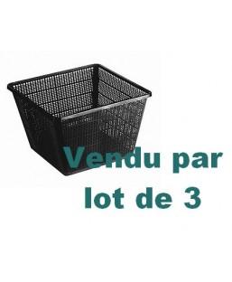 LOT DE 3 PANIERS 11 X 11 CM