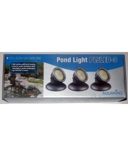 Eclairage 3 x 60 led avec détecteur de luminosité