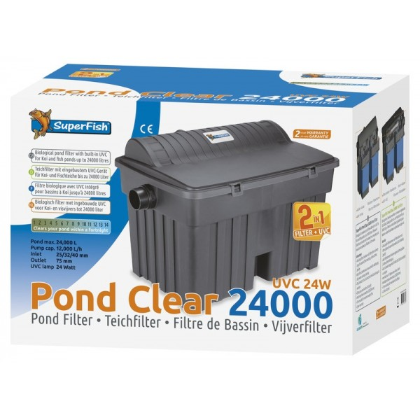 Sf pondclear 24000 uvc 24w superfish 06020213 filtre for Bassin a poisson sans filtre