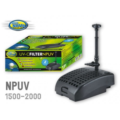 Pompe filtrante npuv2000 9w aqua nova aqua nova npuv 2000 for Pompe de bassin filtrante