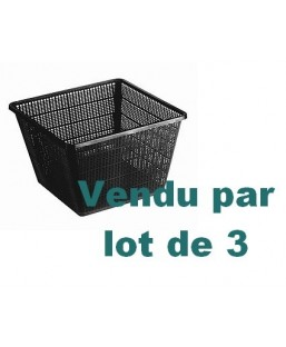 LOT DE 3 PANIERS 19 X 19 CM