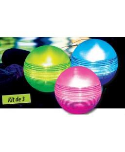 BOULE LED FLOTTANTE SOLAIRE X3
