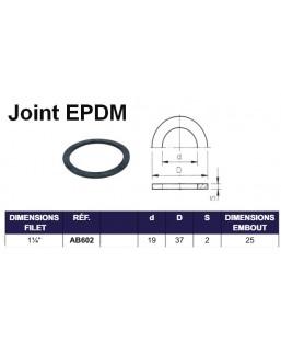 "JOINT EPDM POUR EMBOUT FILET INT 1""1/4"