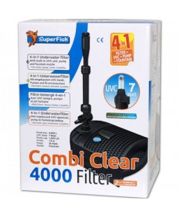 Filtre combi clear 4000- UV 7W - pompe 1950 L/H