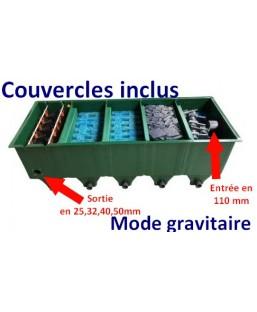 FILTRE EDOUNA 5 UPFLOW MODE GRAVITAIRE (COUVERCLES+BIOCERAPOND)