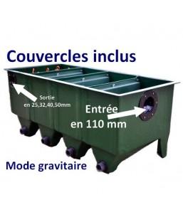 FILTRE EDOUNA 4 UPFLOW MODE GRAVITAIRE (COUVERCLES+BIOCERAPOND)