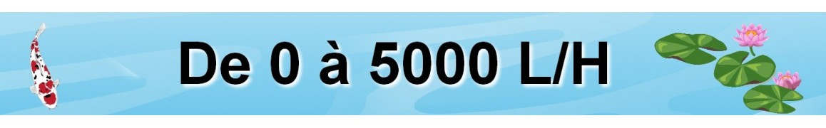 pompe de bassin de jardin de 1000 2000 3000 4000 5000 l/H