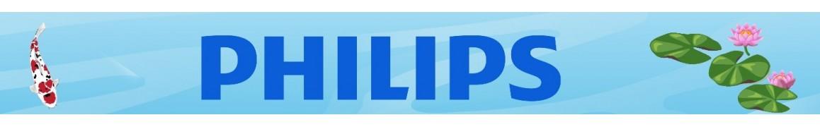 Ampoules de marque Philips type PL ,TL et T5 pour bassin de jardin